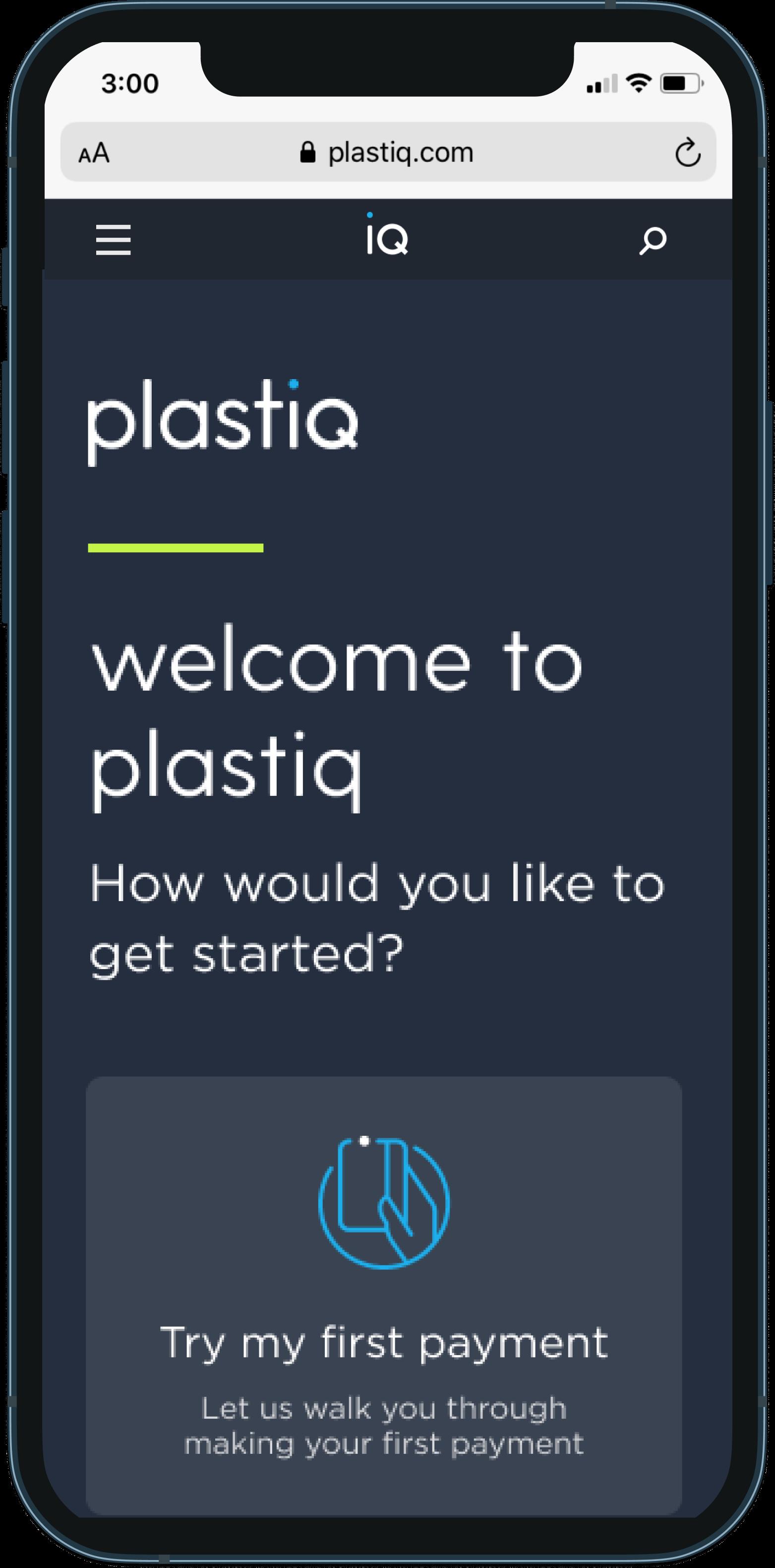 Plastiq mobile screenshot